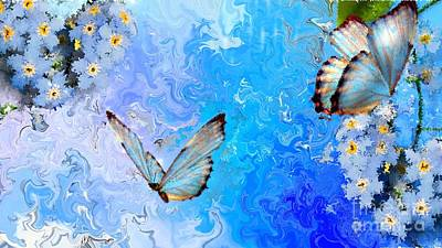 Painting - Butterfly Paintings On Canvas by Alexander Del Rey