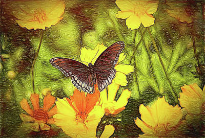 Digital Art - Butterfly Garden by Bonnie Willis