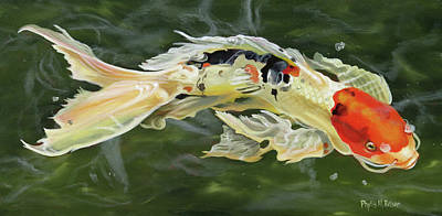 Painting - Butterfly Koi by Phyllis Beiser
