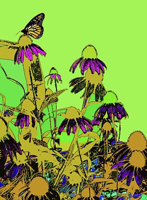Digital Art - Butterfly On Cornflower by David Pantuso