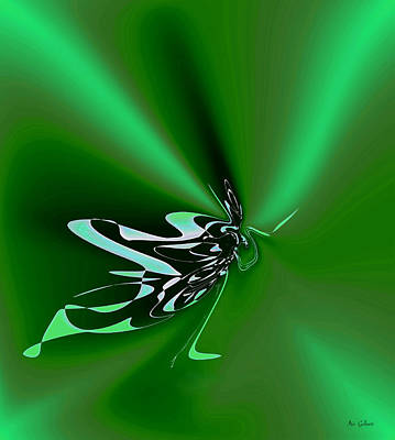 Digital Art - Butterfly World by Iris Gelbart