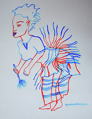 Painting - Bwamba Traditional Dance Uganda by Gloria Ssali