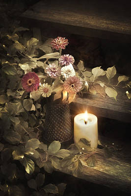 Photograph - By Candle Light by Robin-Lee Vieira
