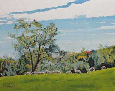 Eastern Townships Painting - By The Big Elm by Francois Fournier