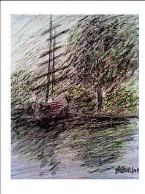 By The Lake Art Print by Aida Behani