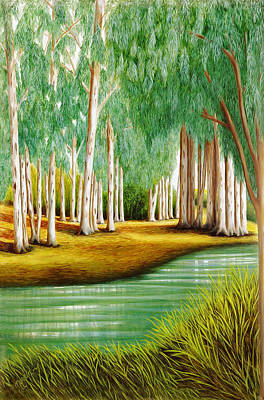 By The Still Waters Print by Mary Grden's Baywood Gallery