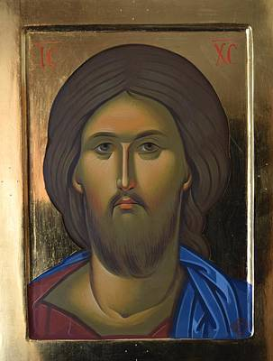 Byzantine Painting - Byzantine Icon- Jesus Christ by Filip Gherghisan