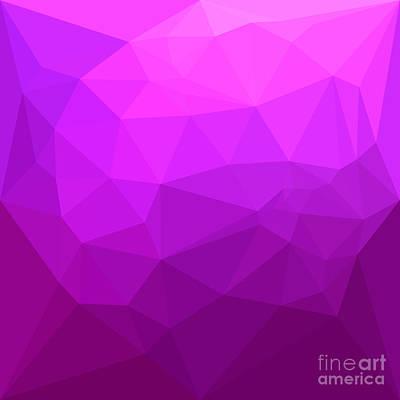 Byzantine Purple Abstract Low Polygon Background Art Print