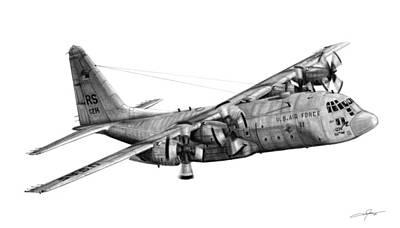 C-130 Wall Art - Drawing - C-130e Hercules by Dale Jackson