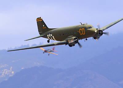 Photograph - C-47 Gooney Bird At Salinas by John King