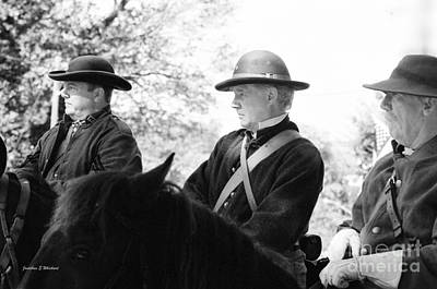 Mosby Photograph - C S A  Co. H 4th Virginia Cavalry Black Horse Troop 150th Anniversary Of The Civil War Warrenton Va. by Jonathan Whichard