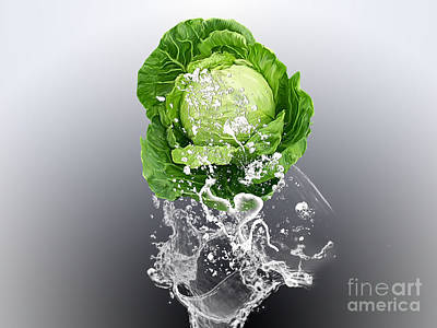 Mixed Media - Cabbage Splash by Marvin Blaine