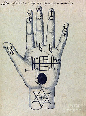 Religious Art Photograph - Cabbalistic Signs And Sigils, 18th by Wellcome Images