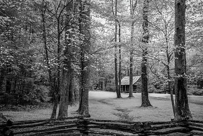 Design In Nature Photograph - Cabin In Cades Cove by Jon Glaser