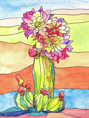 Painting - Cactus Flower by Lynne Furrer