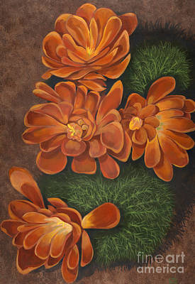 Edward Williams Painting - Cactus Flowers by Edward Williams