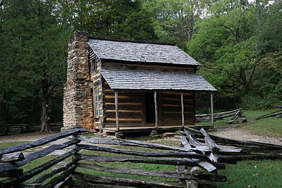Photograph - Cades Cabin by Laurie Perry