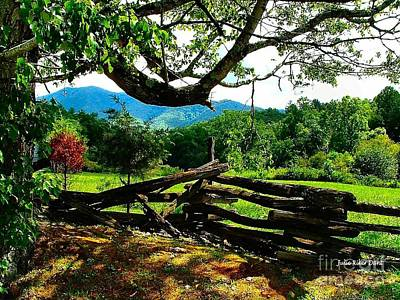 Photograph - Cade's Cove Split Rail by Julie Dant