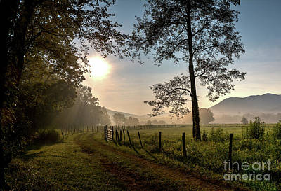 Photograph - Cades Cove Sunrise by Douglas Stucky