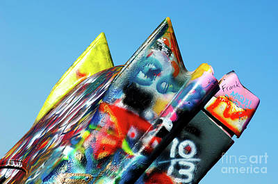 Installation Art Photograph - Cadillac Ranch 2 by Bob Christopher