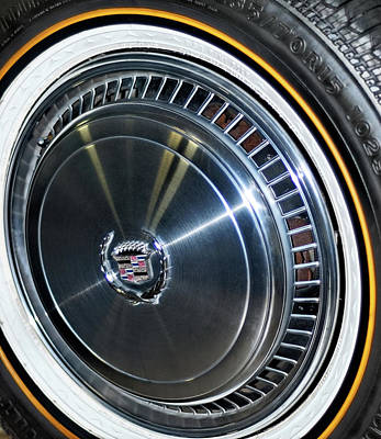 Photograph - Cadillac Vogue Gold Stripe Tire by Julie Niemela