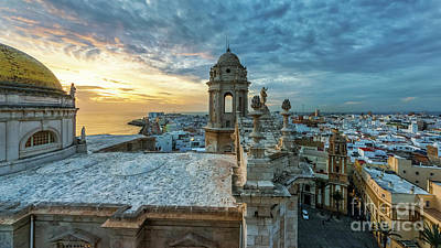 Photograph - Cadiz Cathedral View From Levante Tower Cadiz Spain by Pablo Avanzini