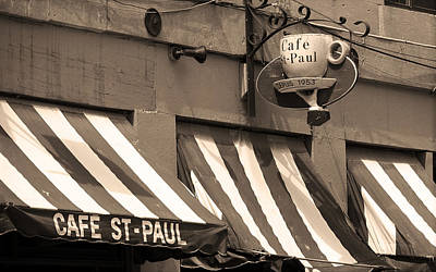 Montreal Restaurants Photograph - Cafe St. Paul - Montreal by Frank Romeo