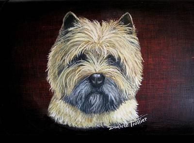 Race Horse Painting - Cairn Terrier Love by Daniele Trottier