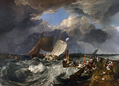 Storm Clouds Painting - Calais Pier by Joseph Mallord William Turner