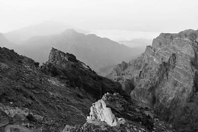 Photograph - Caldera De Taburiente La Palma Monochrome by Marek Stepan