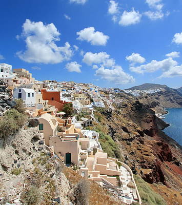 Photograph - Caldera, Oia, Santorini, Greece by Elenarts - Elena Duvernay photo
