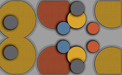 Digital Art - Colorful Circles by Robert Cattan