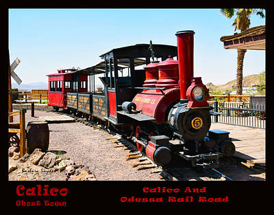 Calico And Odessa Rail Road Photo Art Print by Barbara Snyder