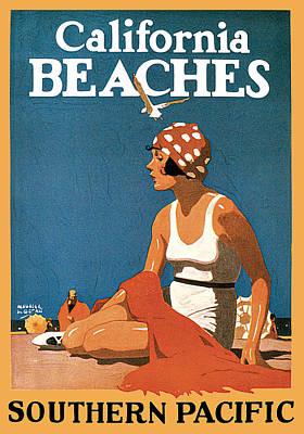 Painting - California Beaches by Maurice Logan