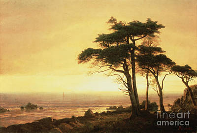 Landmarks Painting - California Coast by Albert Bierstadt