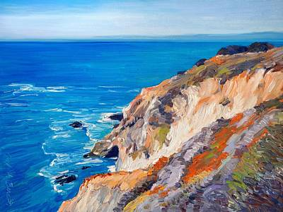 Painting - California Coastline Ridges by Judith Barath