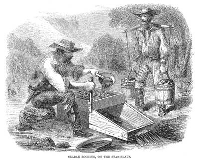 California Gold Rush, 1860 Art Print by Granger