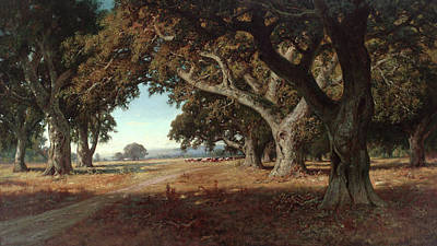 California Ranch Art Print by William Keith