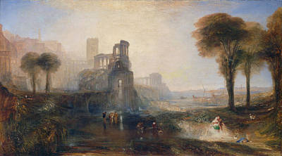 Classic Painting - Caligula's Palace And Bridge by JMW Turner