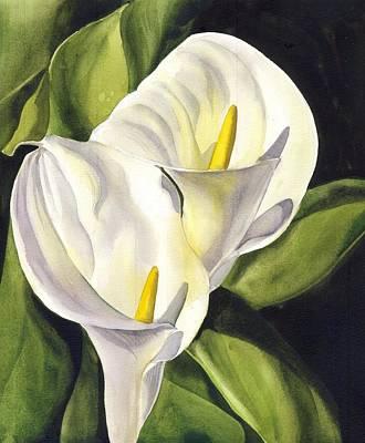 Painting - Calla Lily by Alfred Ng