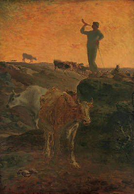 France Painting - Calling The Cows Home by Jean-Francois Millet