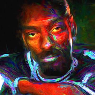 Paint Wall Art - Photograph - Calvin Broadus Aka Snoop Doggy Dogg by David Haskett II