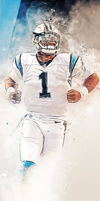Legend Digital Art - Cam Newton by Afterdarkness