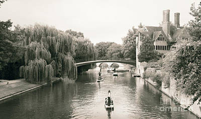 Photograph - Cambridge River Punting by Eden Baed