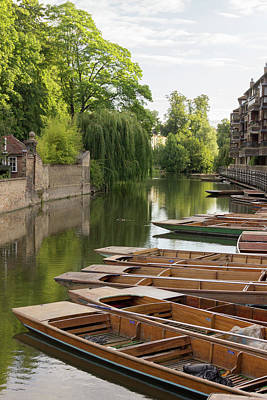 Photograph - Cambridge - The River Cam by David Warrington