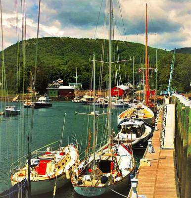 Photograph - Camden Harbor by Lisa Dunn