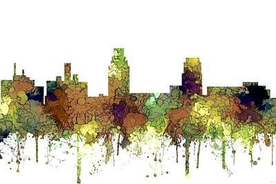 Digital Art - Camden New Jersey Skyline by Marlene Watson