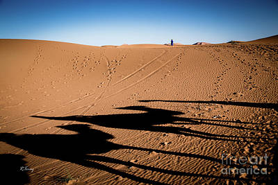 Photograph - Sunset Sahara Camel Caravan by Rene Triay Photography