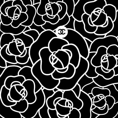 Chanel Wall Art - Digital Art - Camellia Cc by Tres Chic
