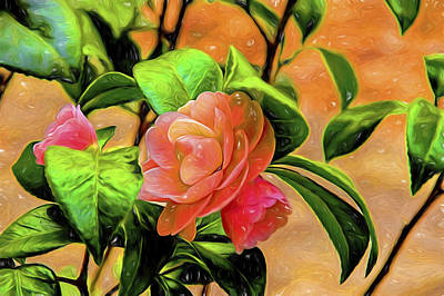 Camellia Candy Art Print